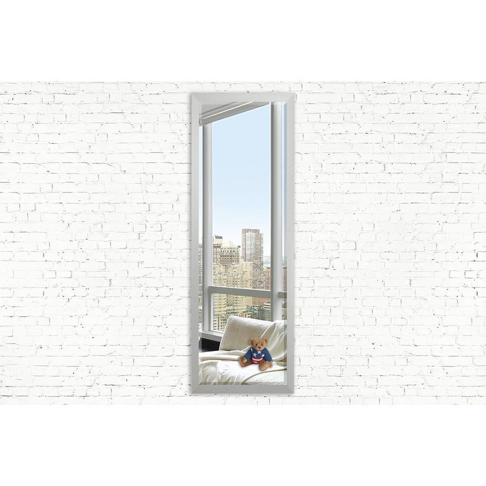 54.5 in. x 15.5 in. Juliet Soft Silver Slender Beveled Body Vanity Mirror