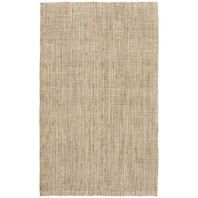 Solids/Handloom Marshmallow 5 ft. x 8 ft. Solid Area Rug