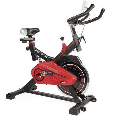 Pro Dynamic 30 Stationary Exercise Bike Fitness Bicycle Indoor in Red