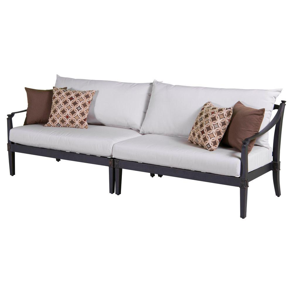 Rst Brands Astoria 2 Piece Patio Sofa With Moroccan Cream Cushions