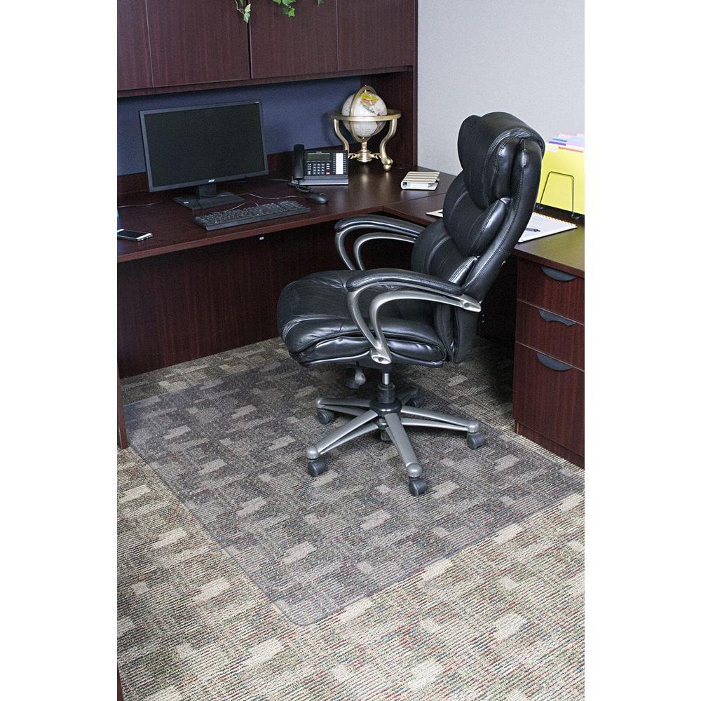 Clear Rectangle Office Chair Mat