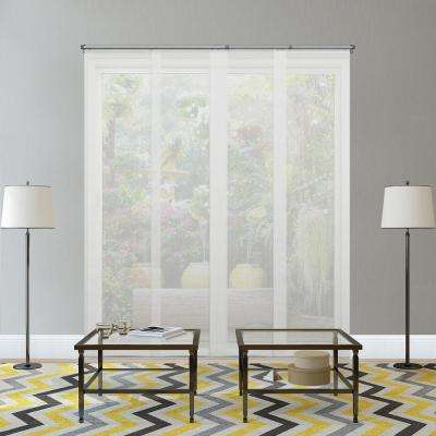 Adjustable Sliding Panel / Cut to Length, Curtain Drape Vertical Blind, Solar, See Through - Cloud White