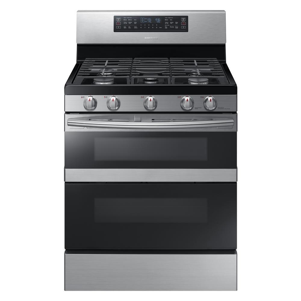 30 in. 5.8 cu. ft. Dual Door Gas Range Double Oven