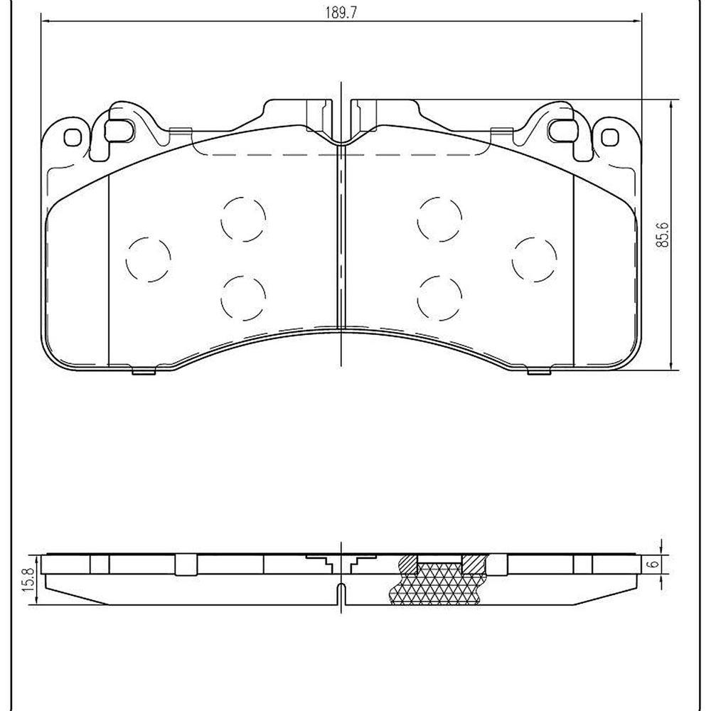Front Ceramic Pads fits 2010-2014 Lexus LS460