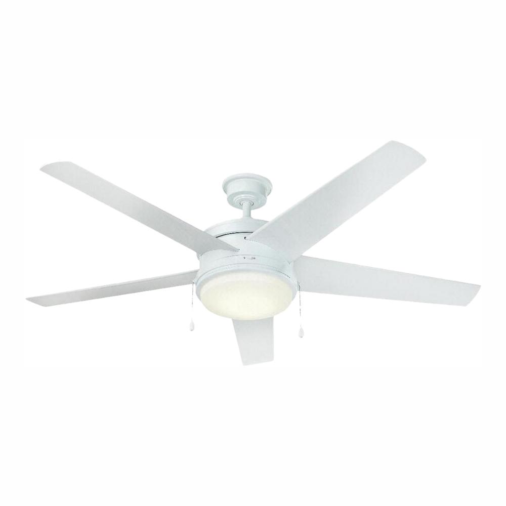 Home Decorators Collection Portwood 60 in. LED Outdoor White Ceiling Fan
