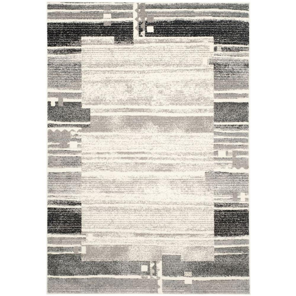 Safavieh Evoke Cream/Dark Grey 8 ft. x 10 ft. Area Rug