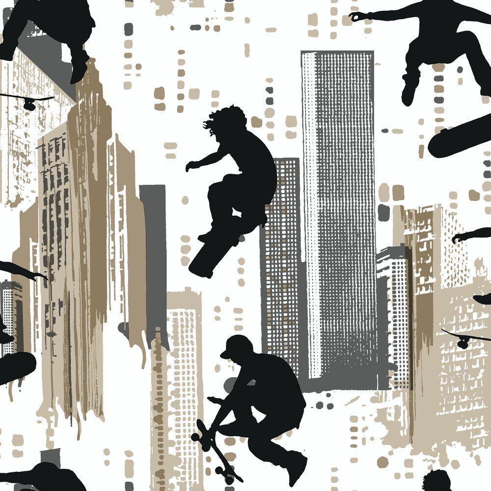 York Wallcoverings 56 sq. ft. Skateboarder Wallpaper