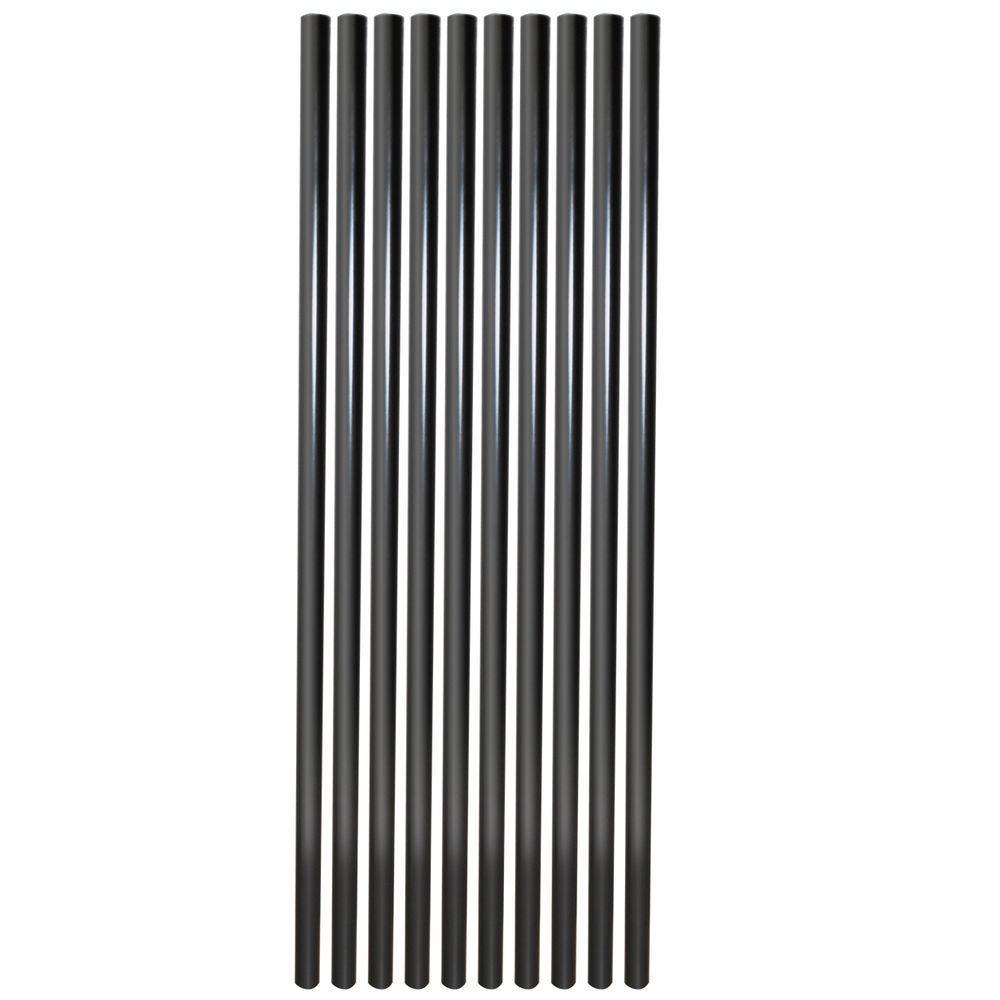 Baluster-Black Round Aluminum (10-Pack) (Common: 30 in.; Actual: 30 in.)