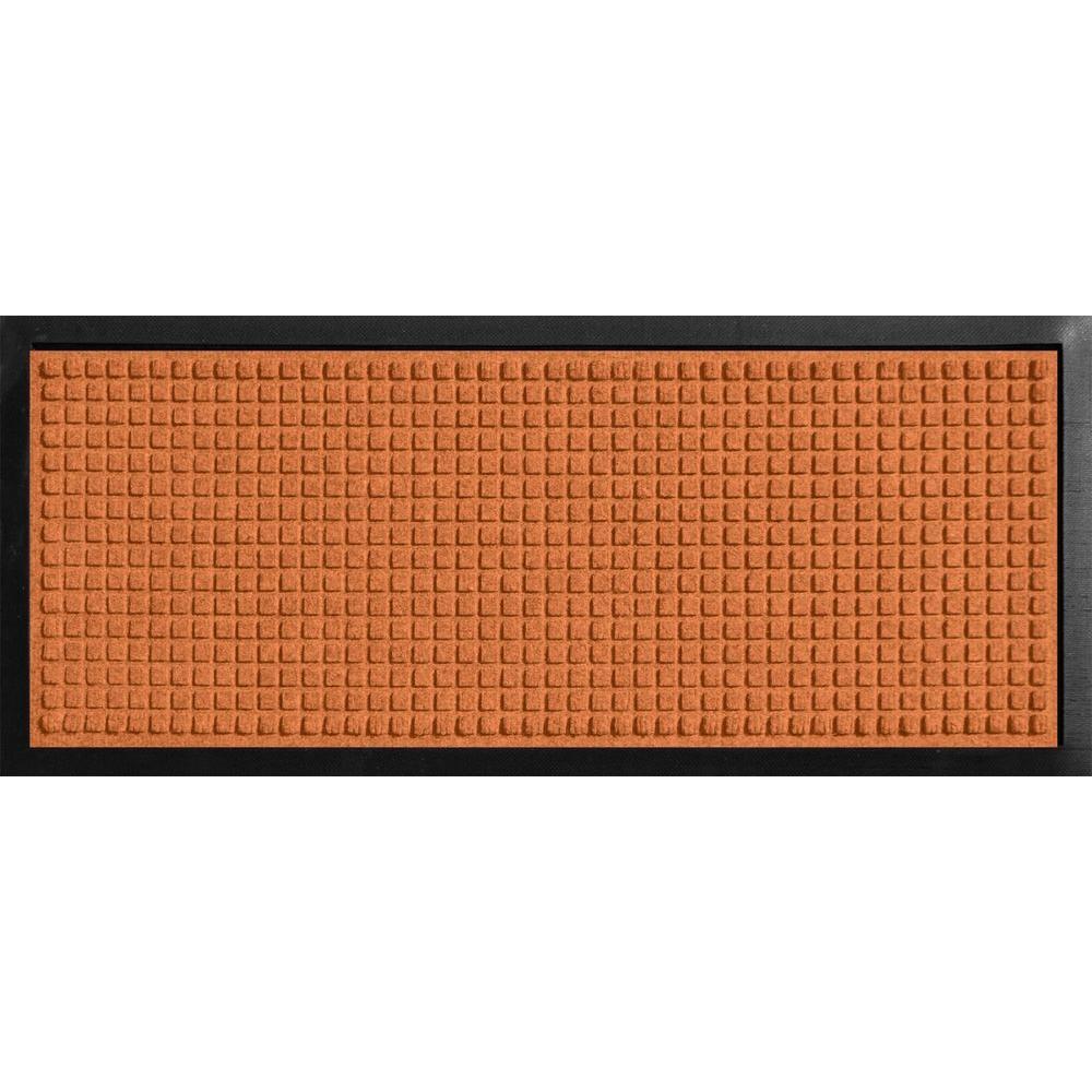 Aqua Shield Boot Tray Squares Orange 15 in. x 36 in. Door Mat