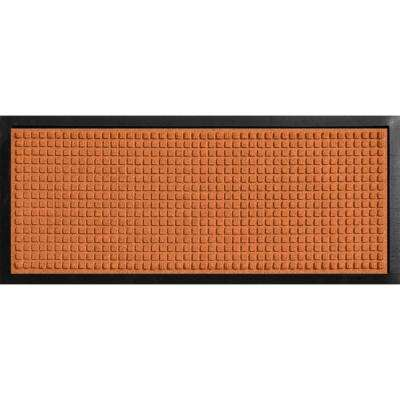 Aqua Shield Boot Tray Squares Orange 15 in. x 36 in. Door Mat