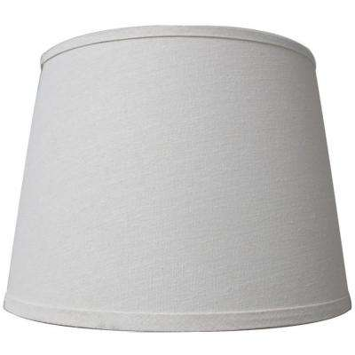 Mix & Match White Linen Drum Accent Shade