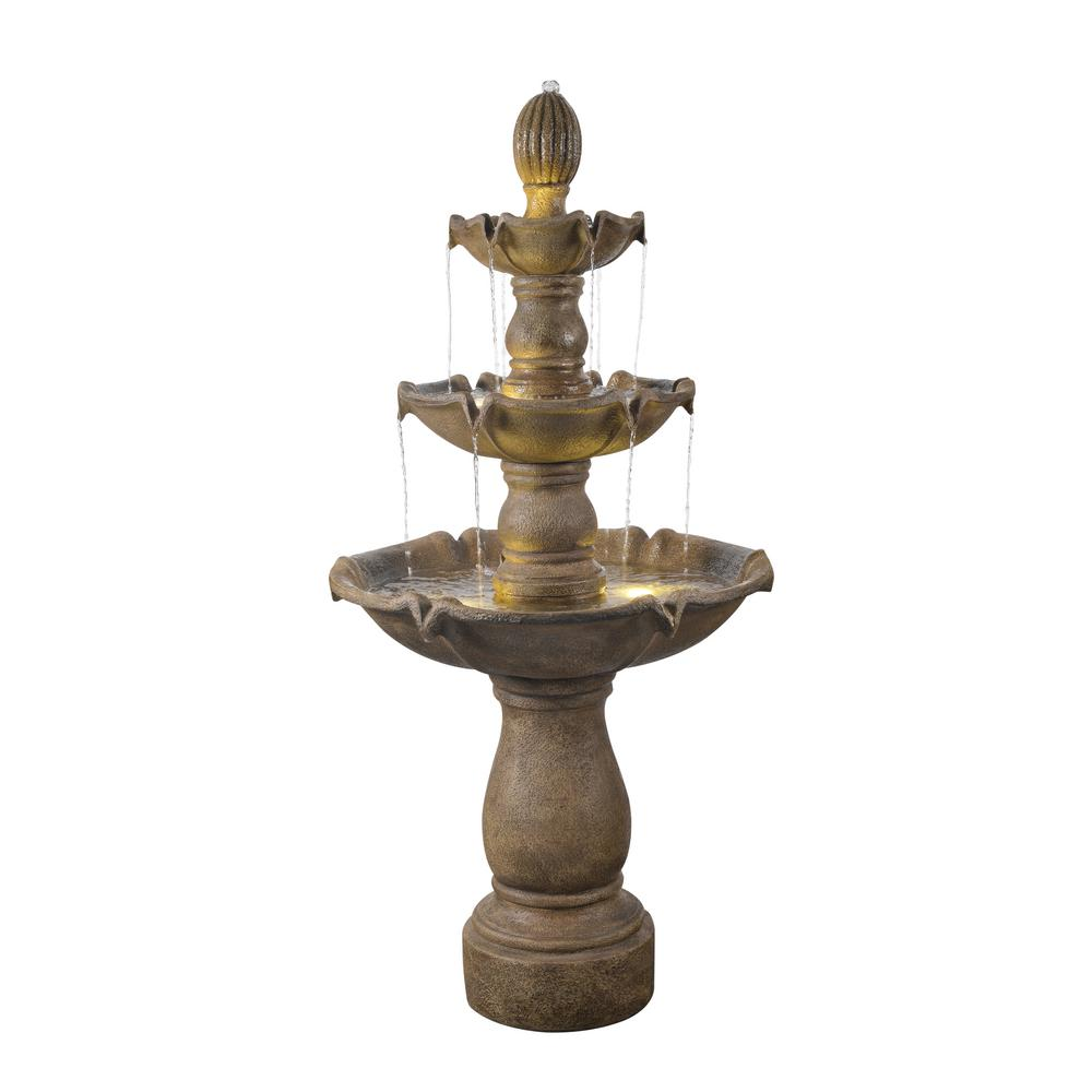 Sherwood Lighted 62 in. Outdoor Fountain