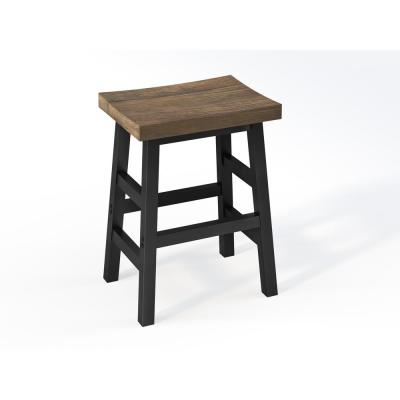 Pomona 26 in. H Reclaimed Wood Counter Stool with Metal Legs