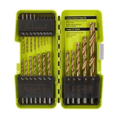 Titanium Coated Drill Bit Set (21-Piece)