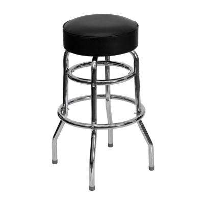 30.25 in. Chrome Cushioned Bar Stool