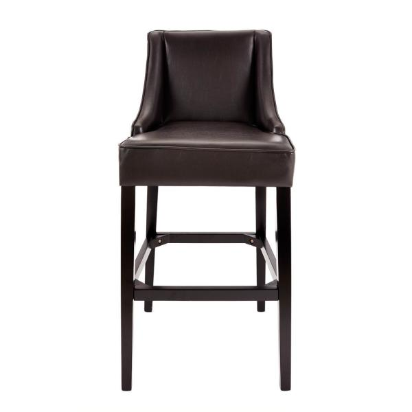 Home Decorators Collection 31 In Brown Cushioned Bar Stool With