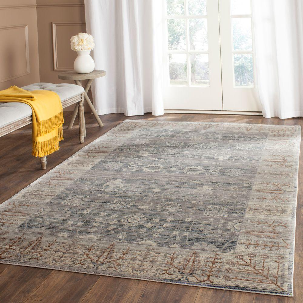 Valencia Dark Grey Light 5 Ft X 8 Area Rug