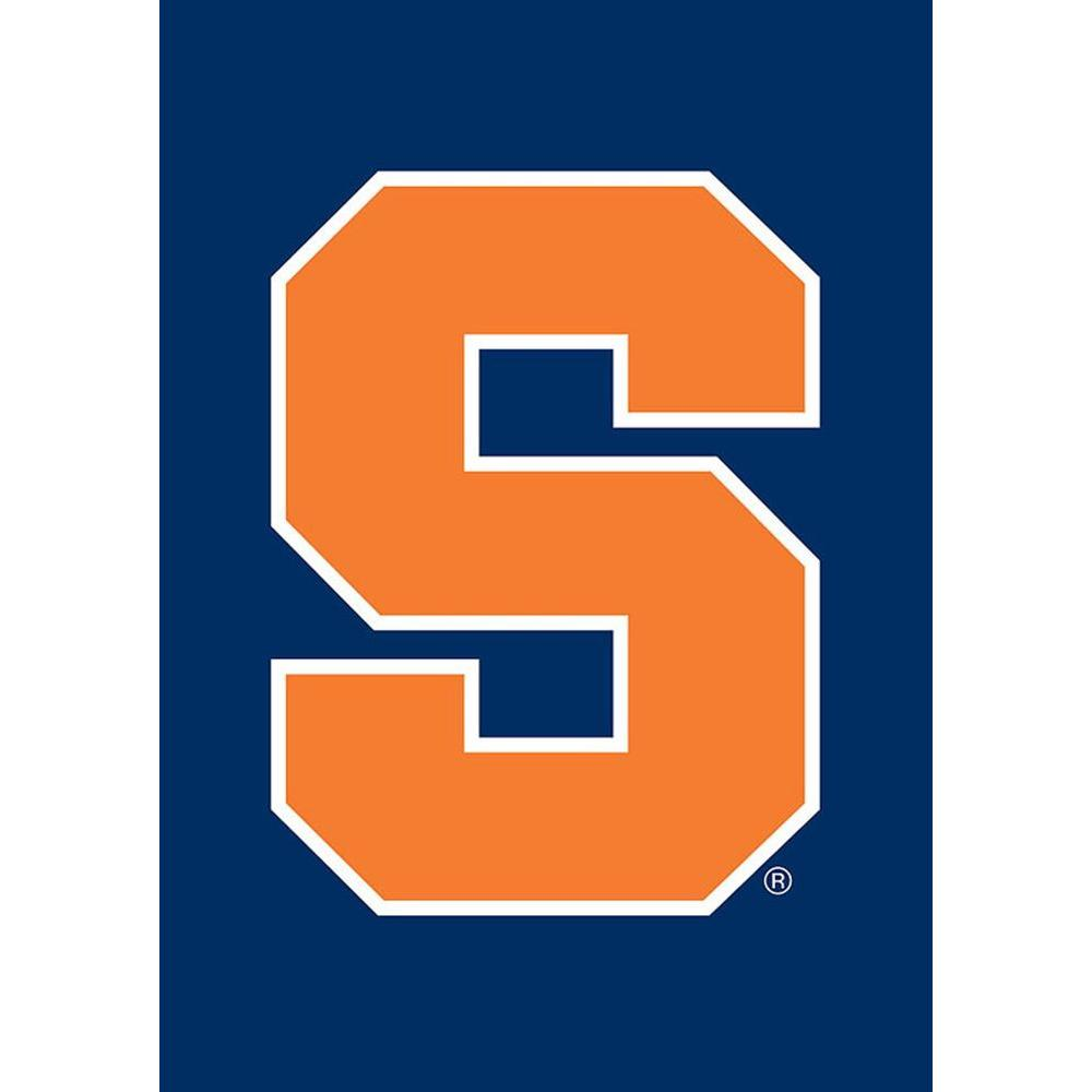 Team Sports America NCAA 12-1/2 in. x 18 in. Syracuse 2-Sided Garden Flag with 3 ft. Metal Flag Stand-DISCONTINUED