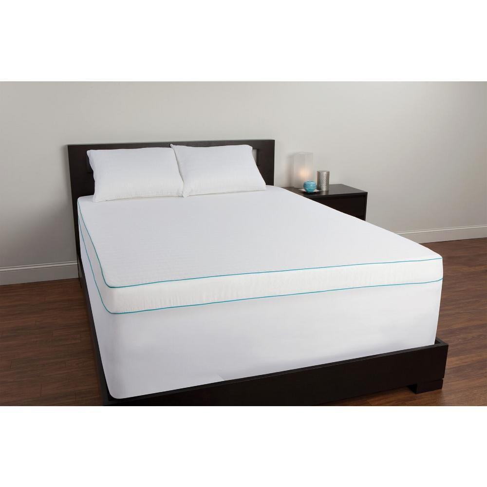 Sealy Queen Memory Foam Mattress Topper, White