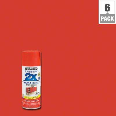 12 oz. Fire Orange Satin General Purpose Spray Paint (6-Pack)