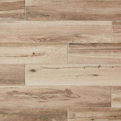 Montagna Harvestwood 6 in. x 36 in. Glazed Porcelain Floor and Wall Tile (14.50 sq. ft. / case)