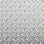 10 ft. x 24 ft. Diamond Tread Commercial Grade Metallic Silver Garage Floor Cover and Protector