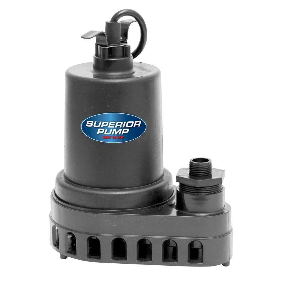 1/2 HP Submersible Thermoplastic Utility Pump