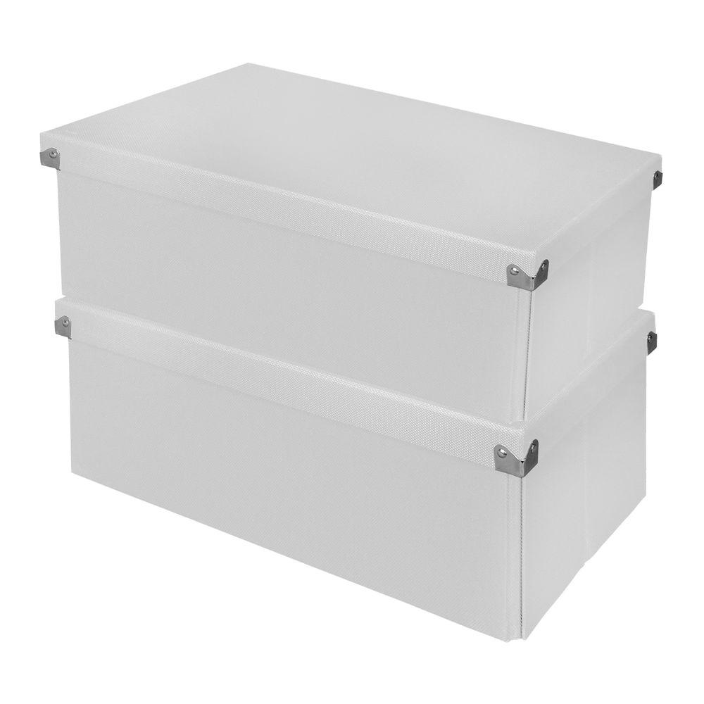 Essential Box with Lid White (2-Pack)