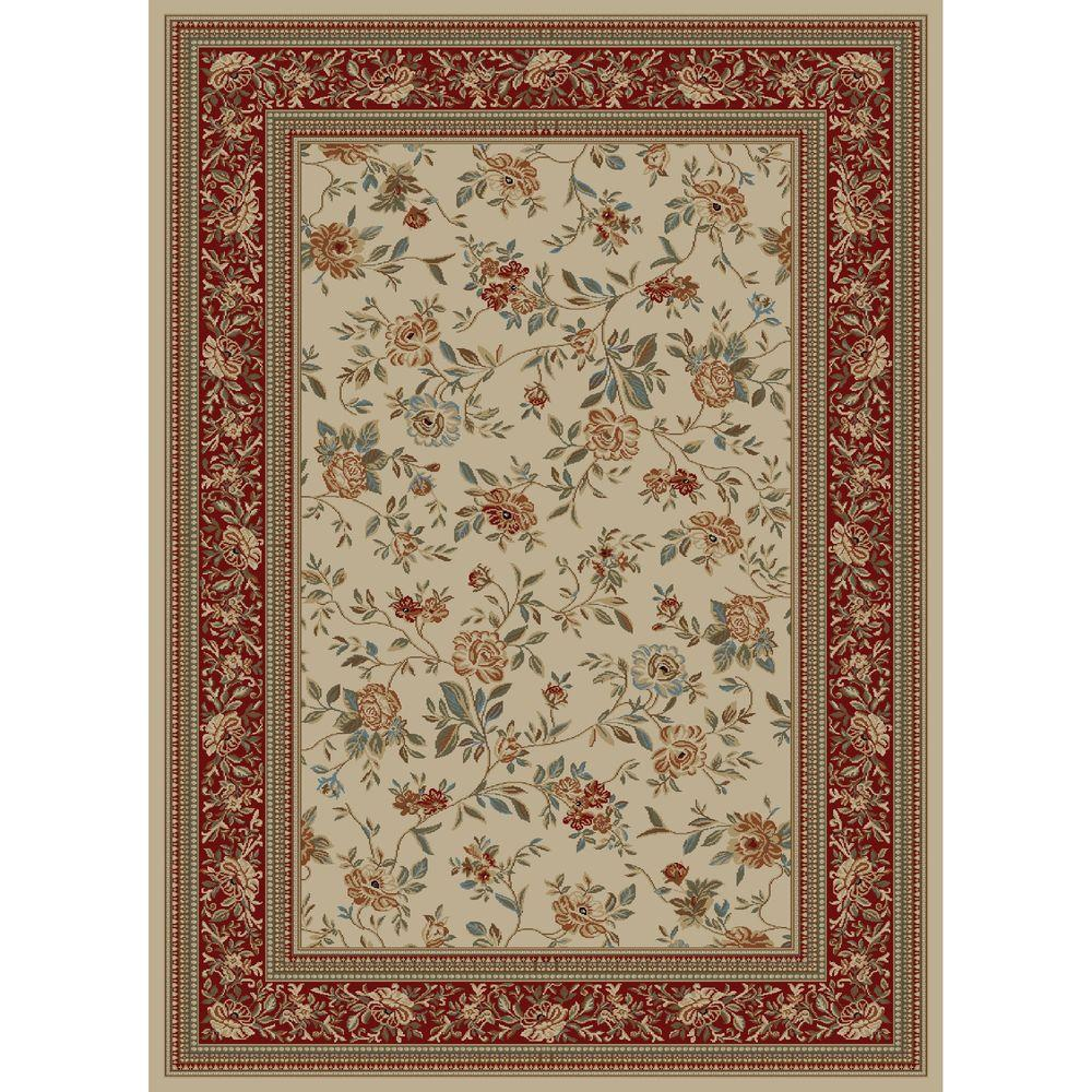 Concord Global Trading Ankara Floral Garden Ivory 6 ft. 7 in. x 9 ft. 6 in. Area Rug