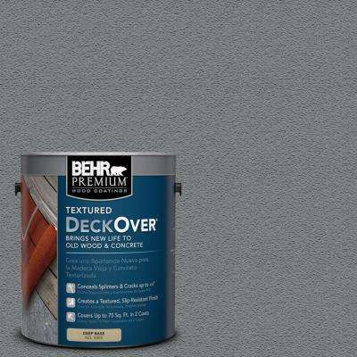 1 gal. #PFC-63 Slate Gray Textured Solid Color Exterior Wood and Concrete Coating