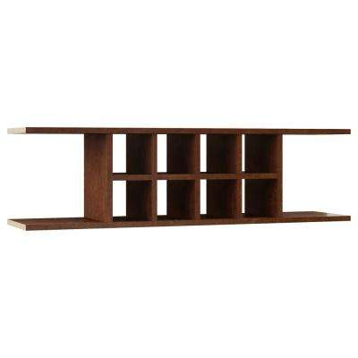 Hampton Ready to Assemble 48 x 13.375 x 11.25 in. Wall Flex Shelf in Cognac
