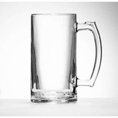 Gigantic Mouth Blown Clear XX-Large Hand Made Glass Beer Mug