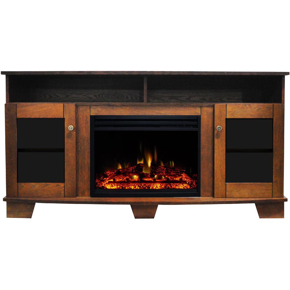Cambridge Savona 59 In Electric Fireplace Heater Tv Stand