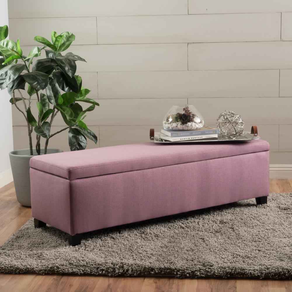 Phenomenal Noble House Cleo Light Lavender Fabric Storage Bench 12524 Creativecarmelina Interior Chair Design Creativecarmelinacom