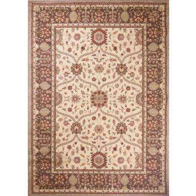 Mooresville Arts and Crafts Ivory 5 ft. 3 in. x 7 ft. 3 in. Area Rug