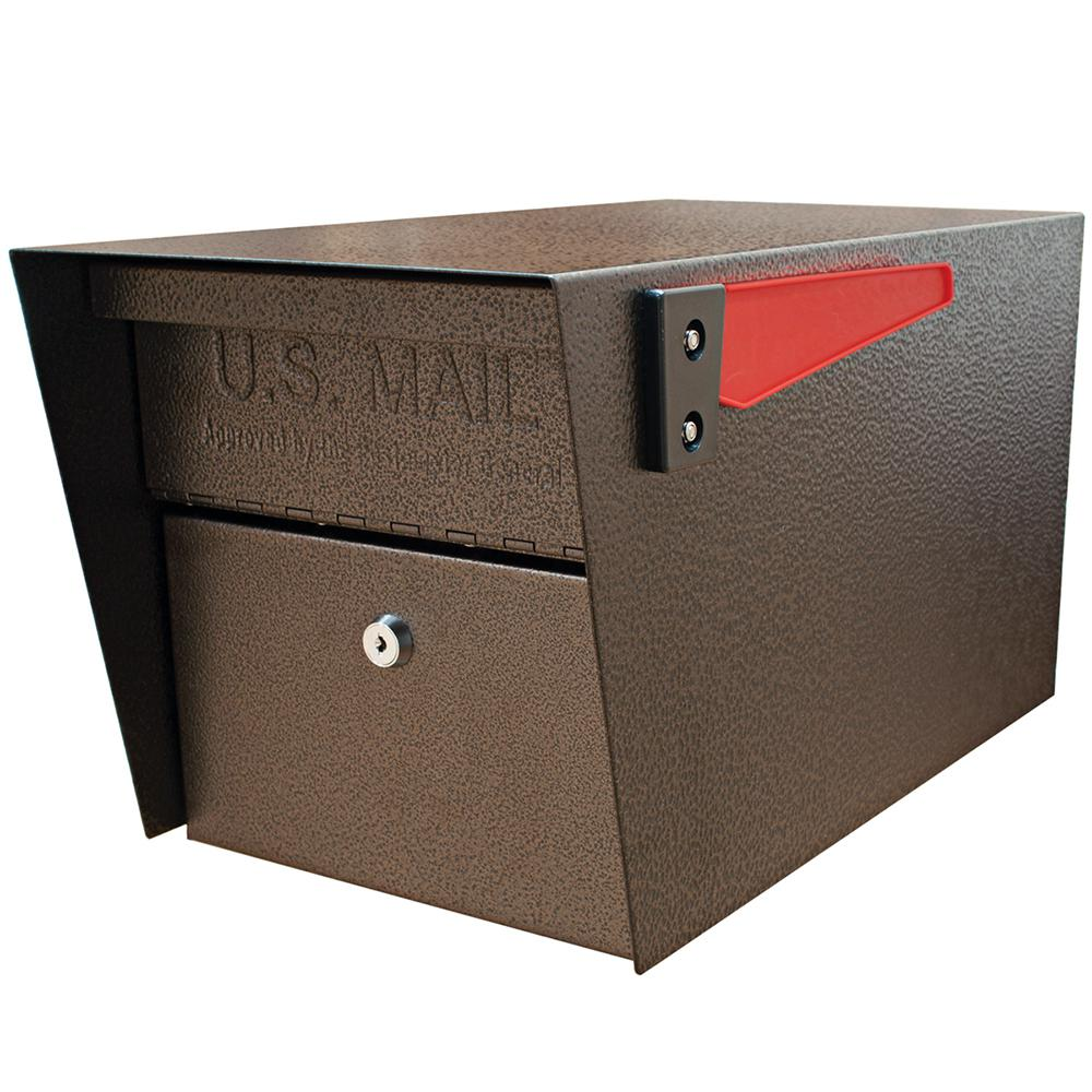 Mail Manager Locking Post-Mount Mailbox with High Security Patented Lock, Bronze