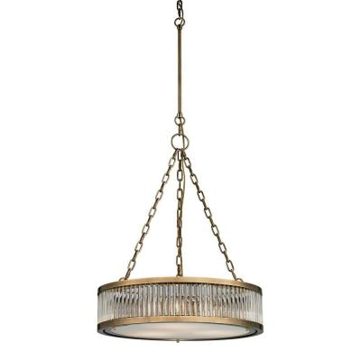 Munsey Park Collection 3-Light Aged Brass Pendant