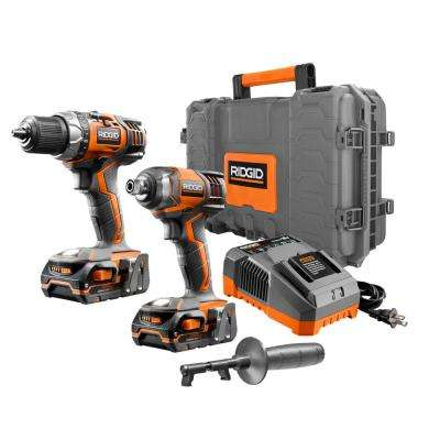 18-Volt Lithium-Ion Cordless 1/2 in. Drill/Driver & Impact Driver Combo Kit with (2) 1.5Ah Batteries Charger & Hard Case