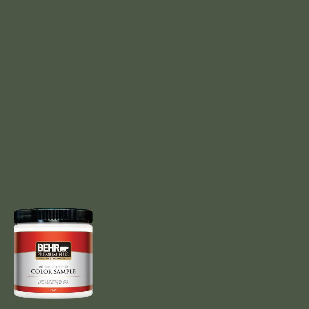 BEHR Premium Plus 8 oz. #440F-7 Fresh Pine Interior/Exterior Paint Sample
