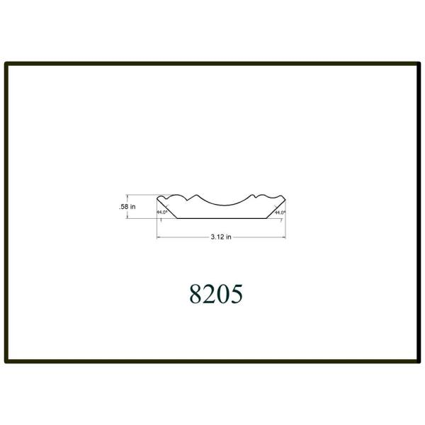 House Of Fara 5 8 In X 3 1 8 In X 8 Ft Primed White Mdf Colonial Crown Moulding 8205 The Home Depot