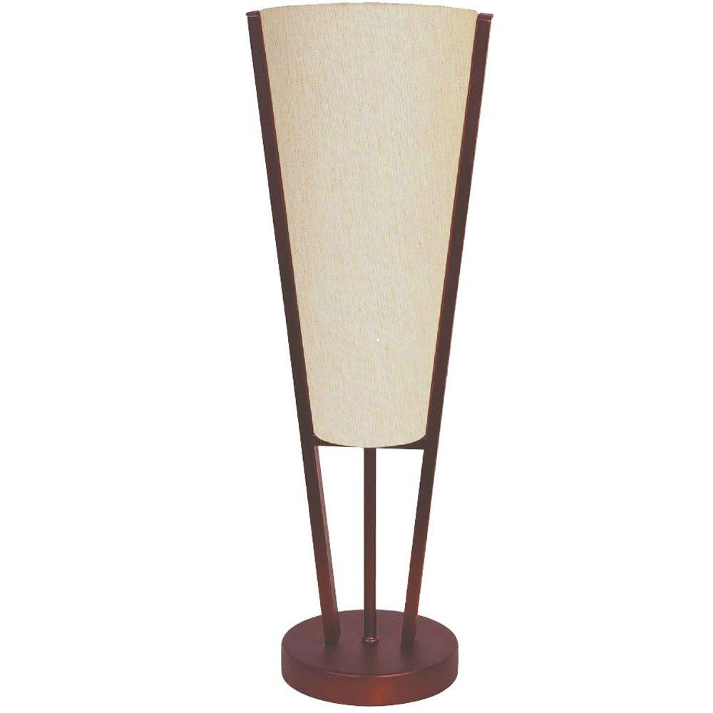 Filament Design Catherine 19 in. Oil-Brushed Bronze Table Lamp with Beige Linen Shades