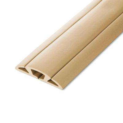 5 ft. Cord Protector with 3-Channels, Beige