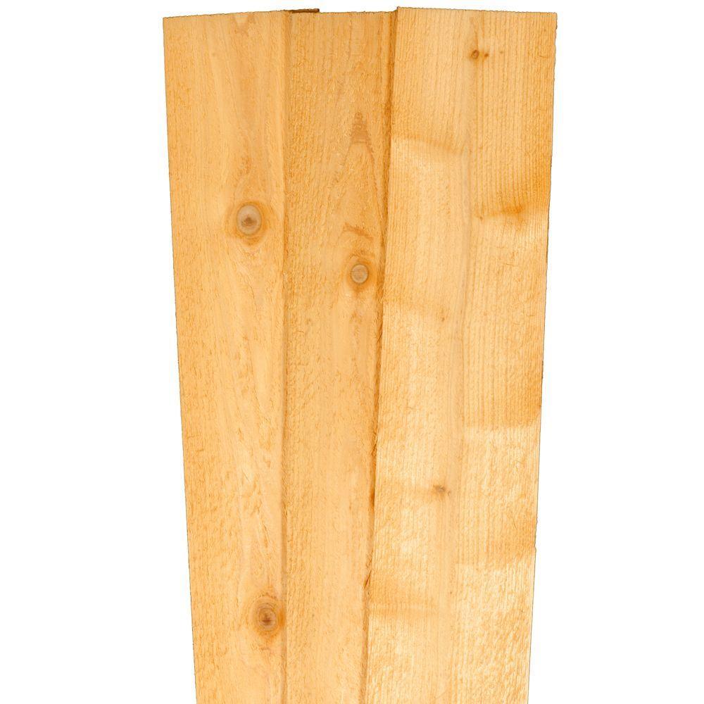 5/8 in  x 6 in  x 6 ft  Western Red Cedar Dog-Ear Fence Picket