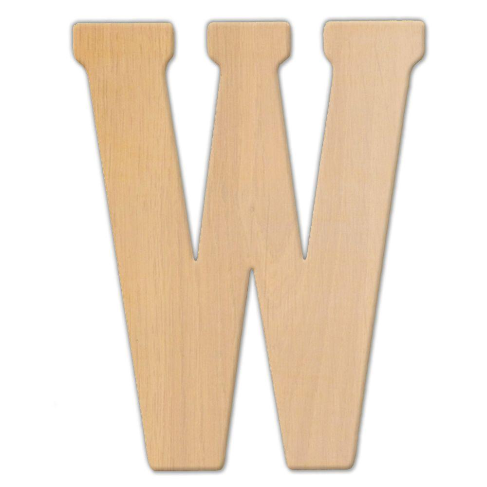 Jeff McWilliams Designs 15 in. Oversized Unfinished Wood Letter (W ...