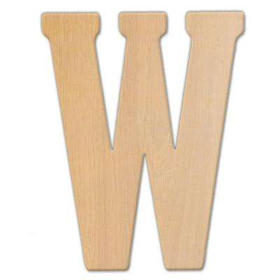 15 in. Oversized Unfinished Wood Letter (W)