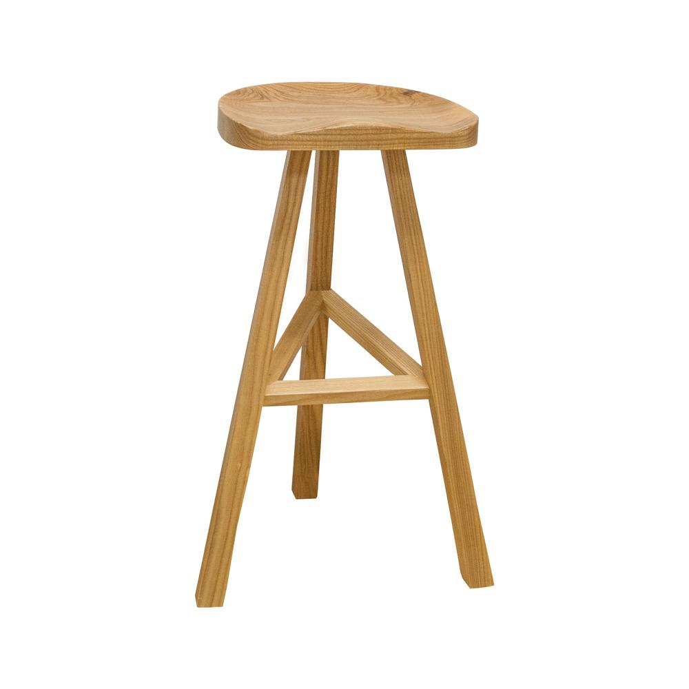 Natural Wood Modern Barstool Mm Ws 034a The Home Depot