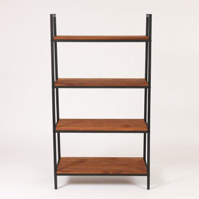 57 in. Natural Etagere Bookcase