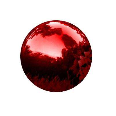 8 in. Stainless Steel Gazing Mirror Ball in Red