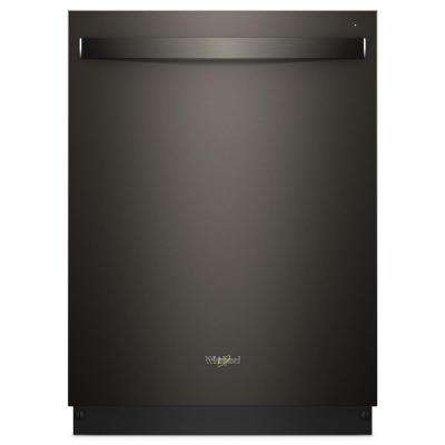 24 in. Top Control Smart Built-In Tall Tub Dishwasher in Black Stainless with Stainless Steel Tub