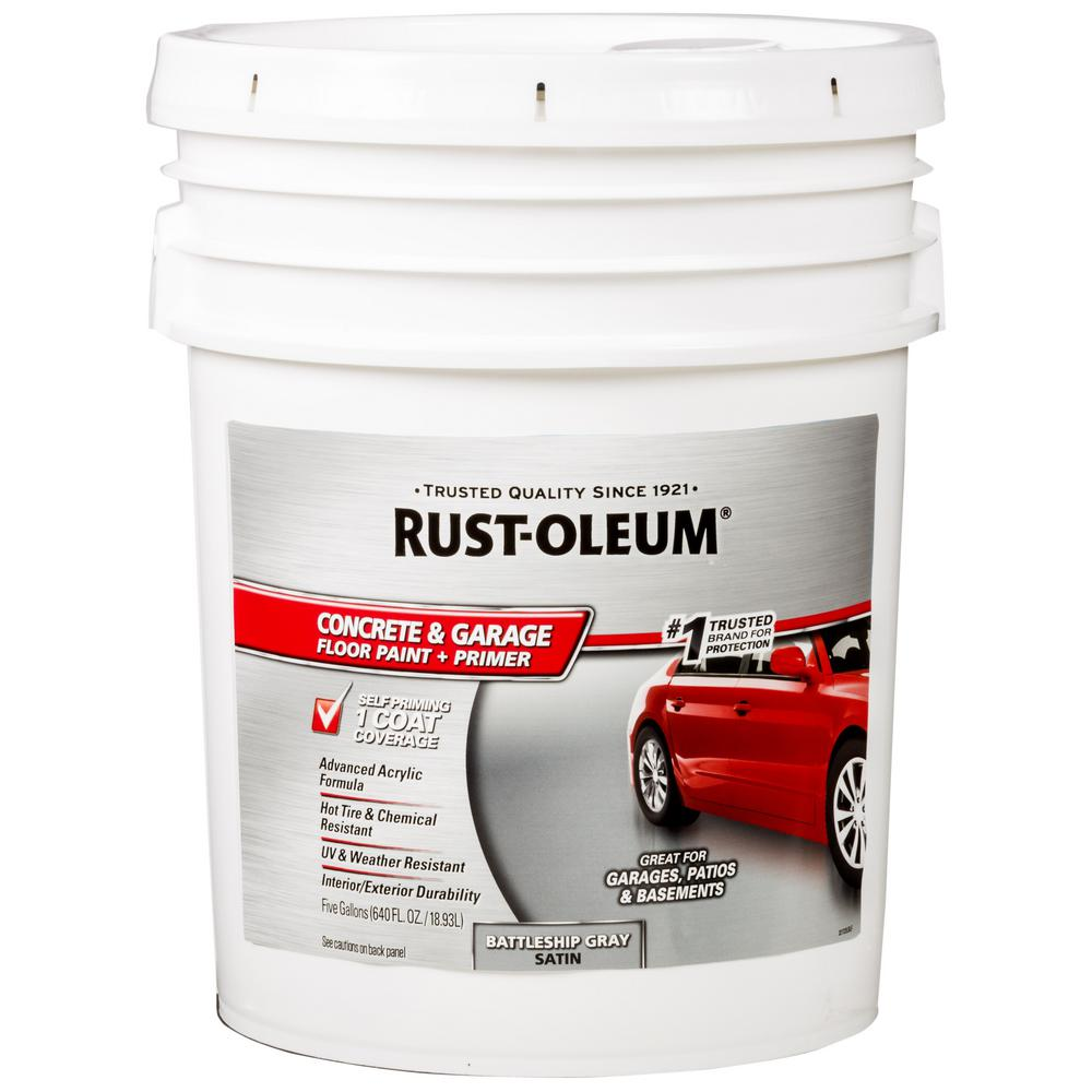 Rust-Oleum 5 gal. Battleship Gray Concrete Floor Paint